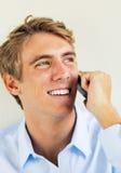 Man Talking on Smart Phone Stock Photo