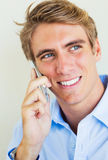 Man Talking on Smart Phone Royalty Free Stock Photography