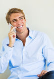 Man Talking on Smart Phone Royalty Free Stock Images