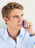 Man Talking on Smart Phone Royalty Free Stock Photos