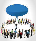Man talking by speech balloon Royalty Free Stock Images