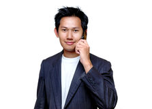Man talking to the cell phone Royalty Free Stock Photo