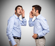 Man talking to himself Royalty Free Stock Photography