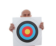 Man with target Royalty Free Stock Photography