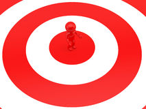 Man on target Royalty Free Stock Image