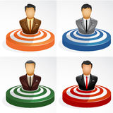 Man of Target. Vector illustration businessman in the target Stock Photo