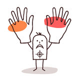 Man with target and hands up Stock Photography