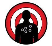Man-target Stock Image