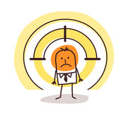 Man on target Royalty Free Stock Photos