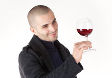 Man taste wine Royalty Free Stock Photo