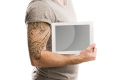 Man with tattoo Royalty Free Stock Image