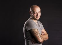 Man with tattoo Royalty Free Stock Photography