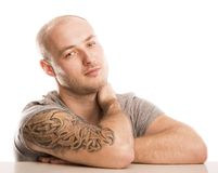 Man with tattoo Stock Photography