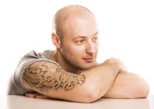 Man with tattoo Stock Image