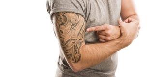 Man with tattoo Stock Photos