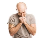 Man with tattoo Stock Images