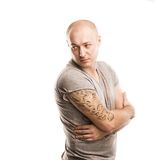 Man with tattoo Royalty Free Stock Photos