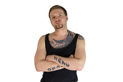Man with tattooes Stock Image