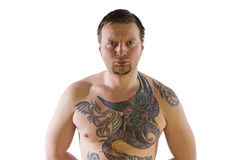 Man with tattooes Royalty Free Stock Photo