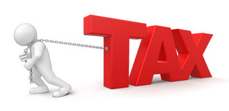 Man and Tax (clipping path included) royalty free illustration