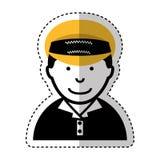 Man taxi driver avatar Stock Photos
