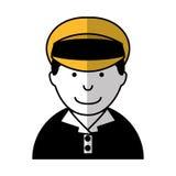 Man taxi driver avatar Royalty Free Stock Photos