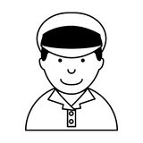 Man taxi driver avatar Stock Images