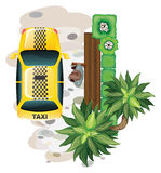 Man and taxi Royalty Free Stock Photo