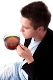 Man and tea Stock Images