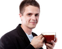 Man and tea Stock Photo