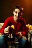 Man with tea Stock Photo