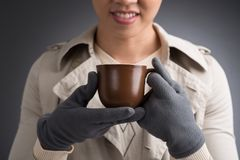 Man with a tea cup Stock Images