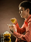 Man with tea Royalty Free Stock Images