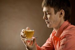 Man with tea Royalty Free Stock Photos