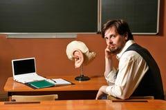 Man. Teacher anatomy. Royalty Free Stock Image