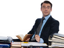 Man teacher lecturing working Stock Photo