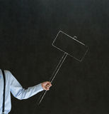 Man holding chalk sign board with space for text Stock Image