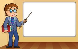Man teacher standing by whiteboard Stock Photo