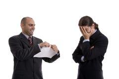 Man tearing paper Stock Photos