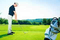 Man Teeing Off royalty free stock images