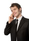 Man with a telephone Stock Photo