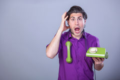 Man with telephone Royalty Free Stock Images