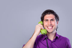 Man with telephone Stock Photo