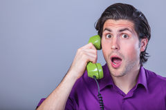 Man with telephone Stock Photos