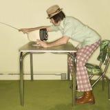 man television tuning Στοκ εικόνα με δικαίωμα ελεύθερης χρήσης