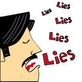 Man Telling Lies Stock Image