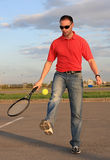 Man and tennis. Royalty Free Stock Image