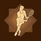Man tennis player action Stock Photos