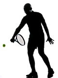 Man tennis player backhand Royalty Free Stock Photo
