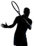Man tennis player forehand Stock Photo